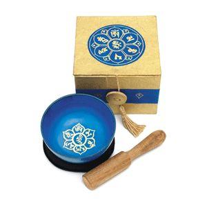 gift set singing bowl blue